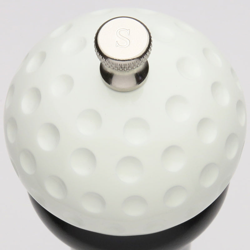 10512 10 Inch Salt Mill with Black Finish and White Golf Ball Replica Resin Top