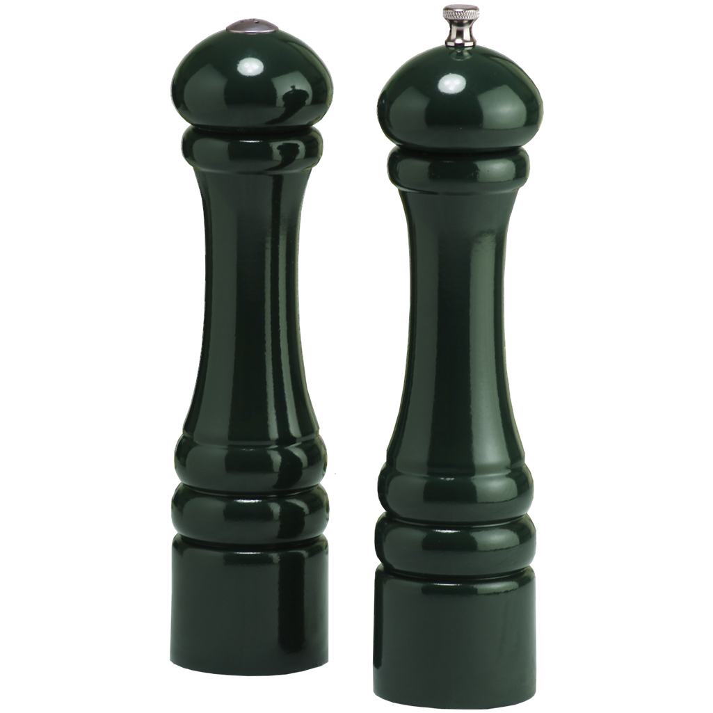 10800 10 Inch Pepper Mill & Salt Shaker Set, Green