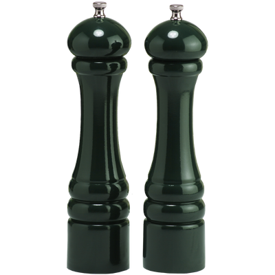10802 10 Inch Pepper Mill & Salt Mill Set, Green