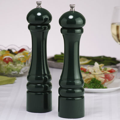 10802 10 Inch Pepper Mill & Salt Mill Set, Green, Table View