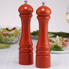 10902 10 Inch Imperial Pepper Mill & Salt Mill Set, Orange, Table View