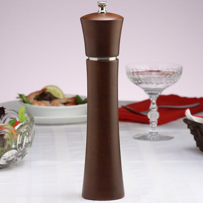 11880 11 Inch Pueblo Pepper Mill, Mocha Finish, Table View