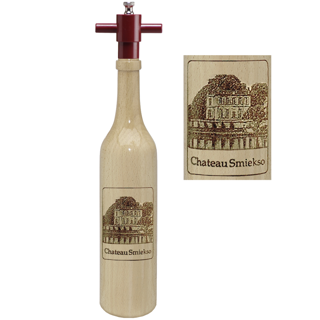 16005 14.5 Inch Wine Bottle, Natural, Chateau Edition