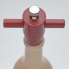 16008 Natural Wine Bottle Salt Mill Top View
