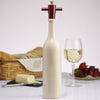 16008 14.5 Inch Wine Bottle Salt Mill, Natural Finish, Table View