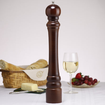 18100 18 Inch Monarch Pepper Mill, Walnut, Table View