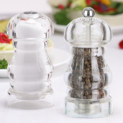 29190 5 Inch Laurel Pepper Mill & Shaker Set, Table View