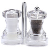 4 Inch Capstan Acrylic Pepper Mill and Salt Shaker Set with Rack 01630