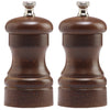 4 Inch Pepper Mill and Salt Mill Set with Walnut Finish 04102