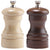 4 Inch Capstan Wood Walnut Pepper Mill and Natural Salt Mill Set 04202