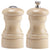 4 Inch Capstan Wood Pepper Mill and Salt Shaker Set with Natural Finish 04300