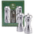 5 Inch Acrylic Pepper Mill and Salt Shaker Gift Set with Brushed Stainless Finish 94506