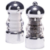 5 Inch Clear Acrylic Pepper Mill and Salt Shaker Set with Chrome Accented Top and Bottom 29160