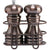 5 Inch Burnished Copper Pepper Mill and Salt Shaker Set with Rack 90055