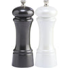 6 Inch Gunmetal Metallic Pepper Mill and Pearl Metallic Salt Mill Set 06902