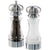 7 Inch Acrylic Pepper Mill and Salt Shaker Set with Brushed Stainless Accents 96851