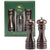 7 Inch Acrylic Pepper Mill and Salt Shaker Gift Set with Burnished Copper Finish