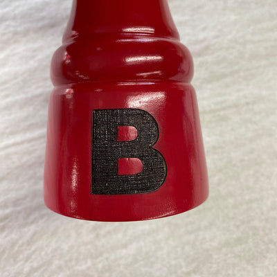 "Chef Specialties 8"" Custom Monogram Pepper Mill - Red"