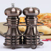 90055 5 Inch Burnished Copper Pepper Mill & Shaker Set, Table View