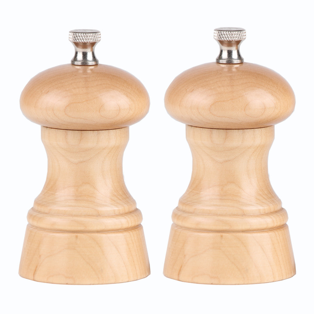 "Chef Specialties 4"" St. Paul Pepper and Salt Mill Set - Natural"