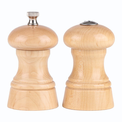 "Chef Specialties 4"" St. Paul Pepper and Salt Shaker Set - Natural"