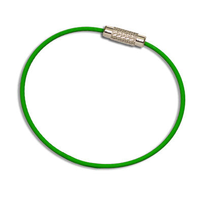 MantaRing (Green) - Cable Key Ring - Waterproof