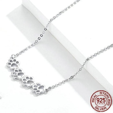 Authentic Silver Paw Print  Necklace - Idealpaws