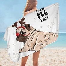Load image into Gallery viewer, Dogos Printed Microfiber Bath & Beach Towel - Idealpaws