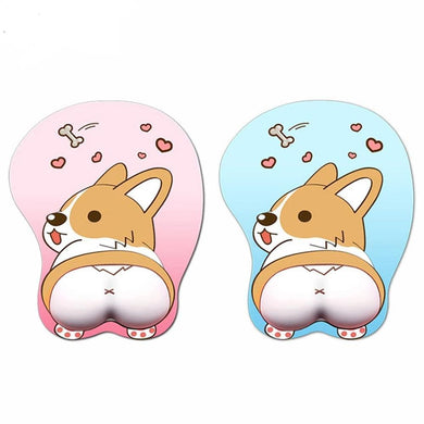 3D Cordi Butt Mouse Pad With Wrist Support - Idealpaws