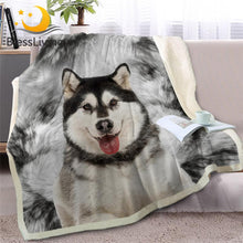 Load image into Gallery viewer, Vivid Print Husky Blanket - Idealpaws