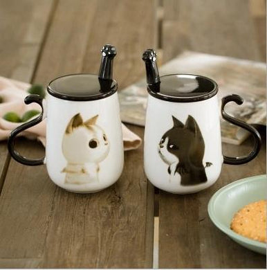 Cute Cat 350ml Ceramic Coffee Mug - Idealpaws