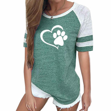 Paw Heart Woman Top - Idealpaws