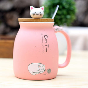Color Cartoon  Milk Coffee Ceramic Mug - Idealpaws