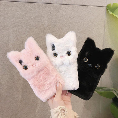 Cat Winter Warm Fluffy Phone Case for iPhone - Idealpaws