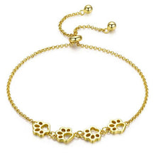 Load image into Gallery viewer, Authentic Sterling Silver Paw Prints Chain Bracelet - Idealpaws