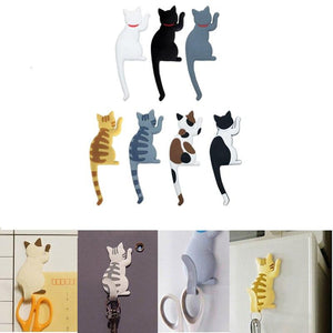Cartoon Cat Refrigerator Magnet Hook - Idealpaws