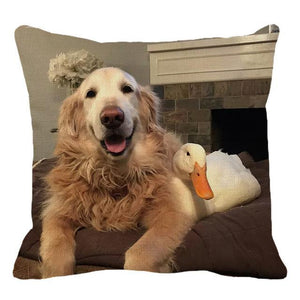 Golden Retriever Dog Pillow Cushion Cover - Idealpaws