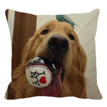 Load image into Gallery viewer, Golden Retriever Dog Pillow Cushion Cover - Idealpaws