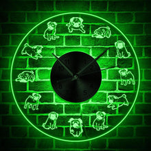 Load image into Gallery viewer, Pug Life LED Neon Wall Clock - Idealpaws