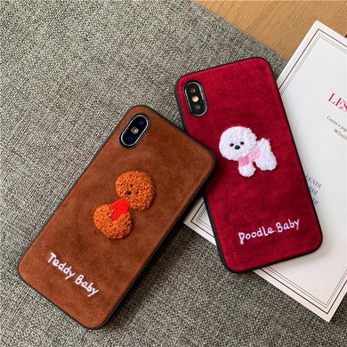 Embroidered Poodle  iPhone Case - Idealpaws