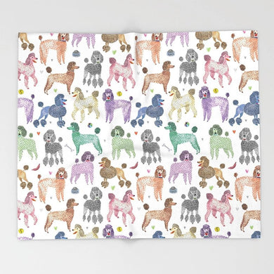 Poodles Dog Cartoon Blanket - Idealpaws