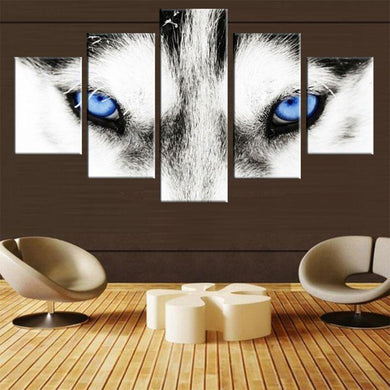 5 Panels Modern Husky Art - Idealpaws