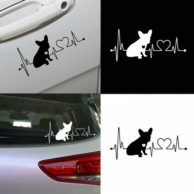 French Bulldog Waterproof Car Sticker - Idealpaws