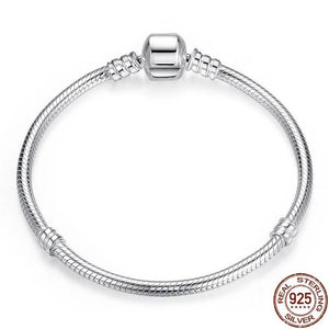Authentic Sterling Silver Snake Chain Bracelet - Idealpaws