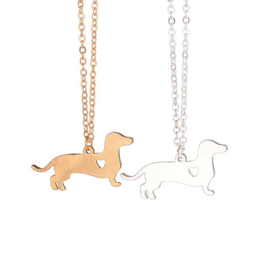 Gold Silver Colored Dachshund Necklace - Idealpaws