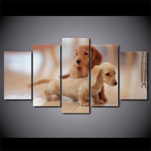 5 Piece Modern Dachshund Wall Art - Idealpaws