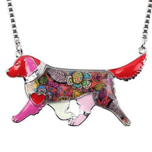Load image into Gallery viewer, Enamel Golden Retriever Necklace - Idealpaws