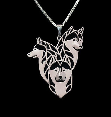3 Siberian Husky necklace - Idealpaws