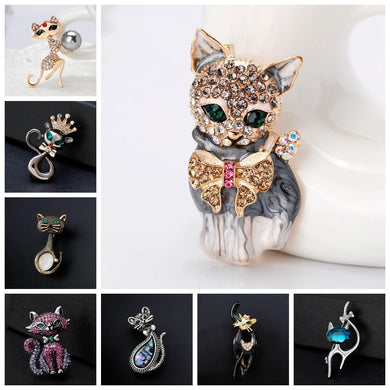 Rhinestones Cat Brooch Collection2 - Idealpaws
