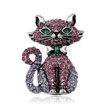 Load image into Gallery viewer, Rhinestones Cat Brooch Collection2 - Idealpaws